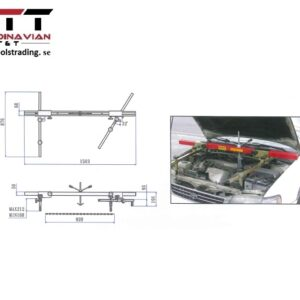 Universal justerbart motorstöd # JAC-ES418