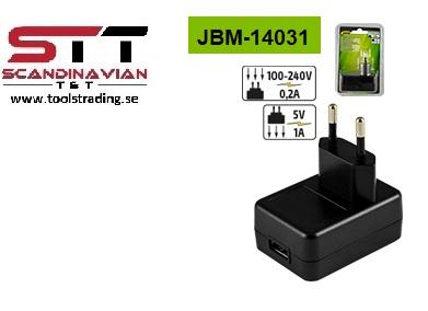 Laddare USB adepter för JBM-53519 LED handlampa # JBM-14031