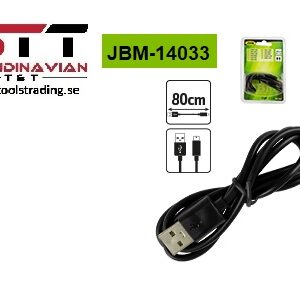 USB Kabel till laddning av LED batteri handlampa # JBM-14033
