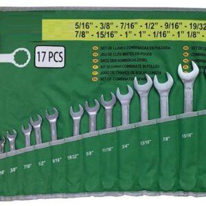 "Blocknyckelsats SAE 17 st Tum 5/16 -1 .1/4"" # JBM-51890"