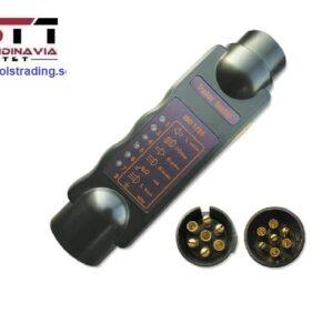 Släpvagn / Fordons släpvagns kontakt tester  7- polig # JBM-51929