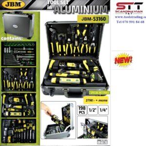 Verktygsväska i aluminium med 198 delar # JBM-53160