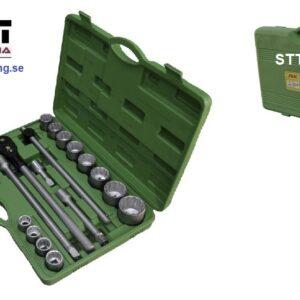 """Hylsnyckelsats 3/4"""" ansluttning  22 delar 12-kant hylsor 19 - 50  mm # JBM-53398"""