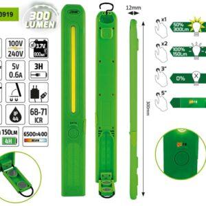 LED-bärbart handlampa med magnetisk flexibel base 0 -300 LM  # JBM-53467