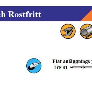 Kapskiva 125 x 1,0 x 22,23 för rostfritt # TECH- M416-125-1,0