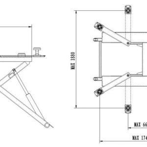 Låglyft  2700 kg för karosseri och däck mm # APC-1538