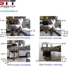 Bussnings installations / borttagnings verktygsats MB #ZHH-M0002