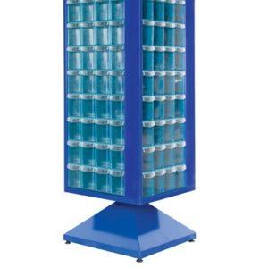 Roterande metall Kabinett med 144 st plastlådor