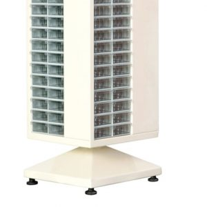 Roterande metall Kabinett med 96 st plastlådor