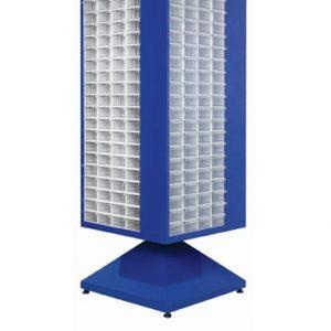 Roterande metall Kabinett med 320 st plastlådor