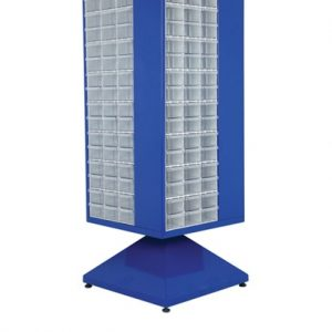 Roterande metall Kabinett med 192 st plastlådor