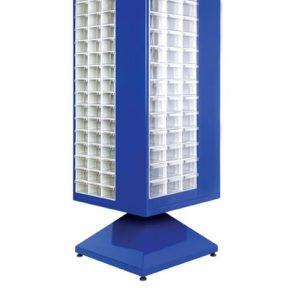 Roterande metall Kabinett med 267 st plastlådor