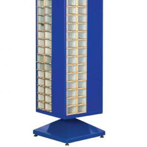 Roterande metall Kabinett med 120 st plastlådor