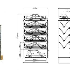 Parkerings billyft och skjut smart pussels parkeringssystem # STM-QDMY-PSH