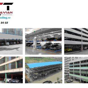 Parkeringssystem Grop design  för 6 bilar # STM-QDMY 6-15