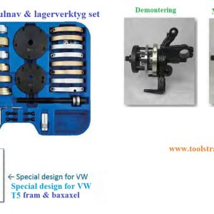 Fram och bakhjulslager verktygsats # KAU-PC-0092