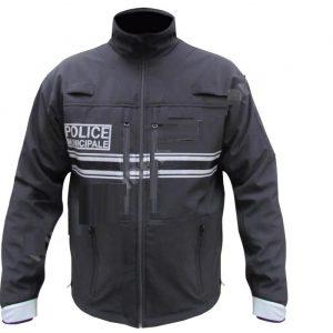 jacka polis modell  tillverkad i vindtät softshell #159-CJ-209