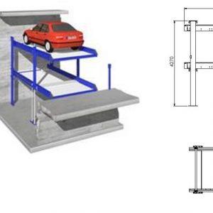 Parkeringssystem Grop design  för 2 bilar  # STM-QDMY-2-5B