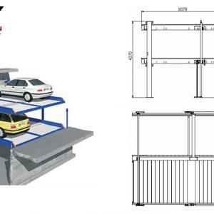 Parkeringssystem Grop design  för 4 bilar ( 3 + 1 )# QDMY 4-10
