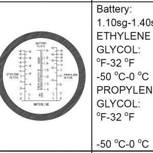 Automotive Plastic Refraktometer Utan ATC # Art nr 67- REF410T