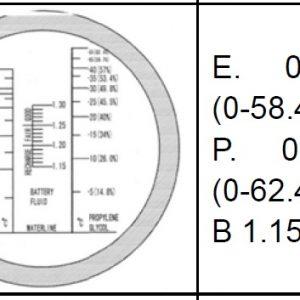 Automotive Plastic Refraktometer Utan ATC  # Art nr 67- REF402K