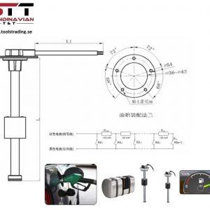 TPMS FLOATER Sensorer för bränslenivå #  TOT-FL05