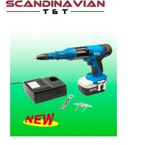 Popnitpistol batteridriven14,4V för 3,2-6,4 mm p-nit #AIRP-SERG-1440V1