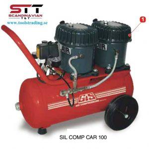 Kompressorer silencieux avancerad luft