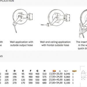 Slangvinda FÖR DIESEL 10 bar Mod. S-555 med slang 15 m # MEC-071-1508-615