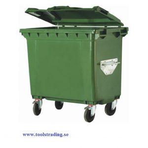 Sopcontainer 660 lit , hjul försedd