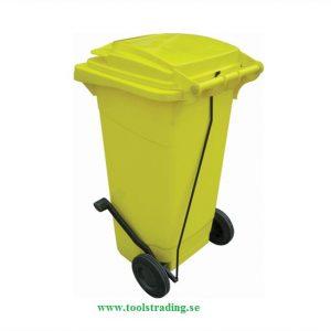 Sopcontainer 120 lit med hjul & pedal öppnare