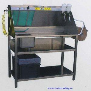Lackpistoltvätt och reservdelstvätt med vatten