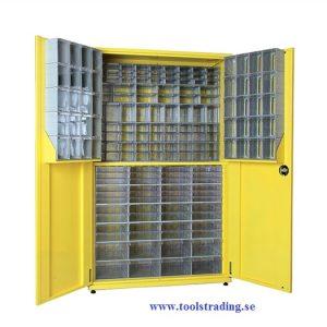 Metallskåp med plastlådor #SMBL-TKD160-S