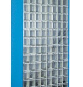 Plastlåd kabinett med 112 st plastlådor golv modell #SMBL-TMD-501-S