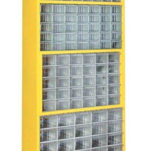 Plastlåd kabinett med 141 plastlådor golv modell # SMBL-TMD-SUPER