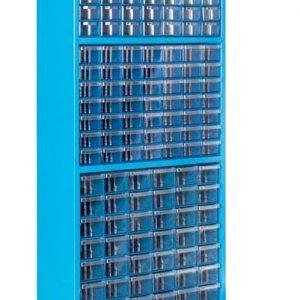 Plastlåd kabinett med 140 plastlådor golv modell # SMBL-TMD-SUPER2