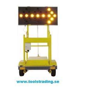 Sol- Trafik Pil Släpvagn med körvisnings pil på ljustavla
