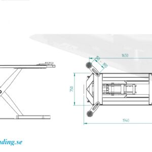 Låglyft elektro hydraulisk 2500 kg lyft kapacitet # wdw-55000