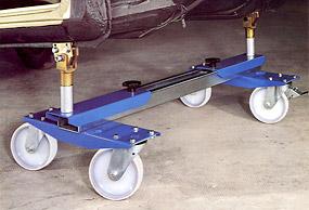 Vagn för transport av bilchasssin  hjul försedd # STA-115