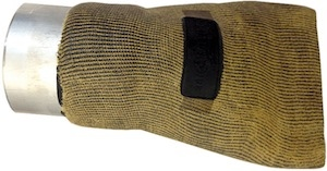 Avgasmunstycke keflar 75 - 180 mm # art nr AER-BKP-75