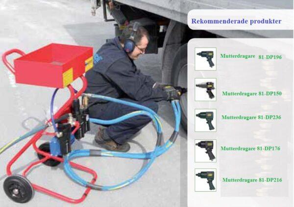Vagn för tryckluftsmaskin # DEP 181 C.02.0031